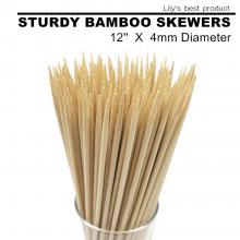 12 in. Natural Bamboo Skewers