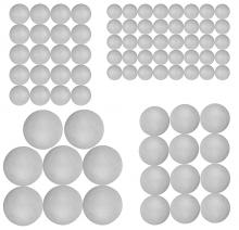Craft Styrofoam Balls (80 Pieces)
