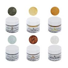 Roxy & Rich Edible Hybrid Luster Dust Metallic Kit, 6 Colors