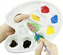 Honbay Plastic Artist Paint Tray Palette with 10-well Thumb Hole