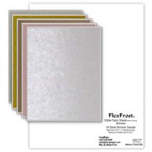 Oasis Supply Magic FlexFrost Edible Image Fabric Icing Sheets - 10 Pack, Shimmer Sampler