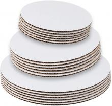 StarMar Set of 18 - Cake Board Rounds, Circle Cardboard Base, 6, 8 and 10-Inch
