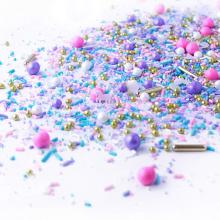 Unicorn Sprinkle Mix Pastel Pink Purple and Blue Gold Unicorn Sprinkles