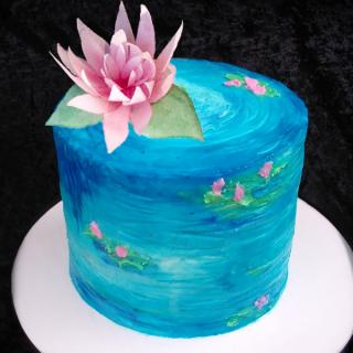 water lily pond cake sm sq
